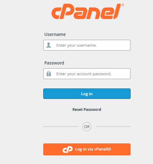 C panel log in